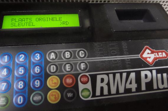 sleutel-uitlees-machine